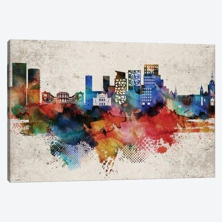 Oslo Abstract Skyline Canvas Print #WDA603} by WallDecorAddict Art Print