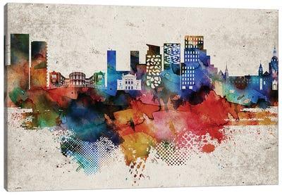 Oslo Abstract Skyline Canvas Art Print