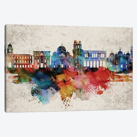 Padua Abstract Skyline Canvas Print #WDA605} by WallDecorAddict Canvas Wall Art