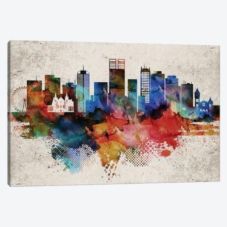 Perth Abstract Skyline Canvas Print #WDA606} by WallDecorAddict Canvas Wall Art