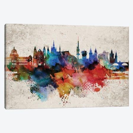 Prague Abstract Skyline Canvas Print #WDA607} by WallDecorAddict Canvas Art