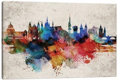 Prague Abstract Skyline Canvas Art Print