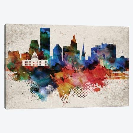 Providence Abstract Skyline Canvas Print #WDA608} by WallDecorAddict Art Print