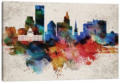 Providence Abstract Skyline Canvas Art Print
