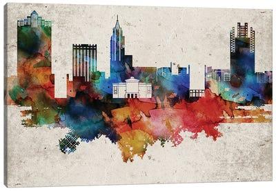 Raleigh Abstract Skyline Canvas Art Print