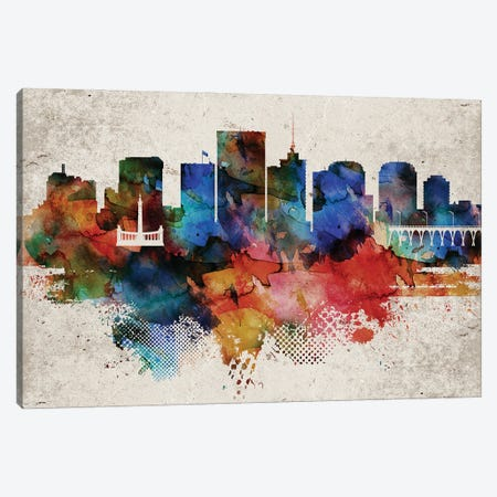 Richmond Abstract Skyline Canvas Print #WDA612} by WallDecorAddict Canvas Wall Art
