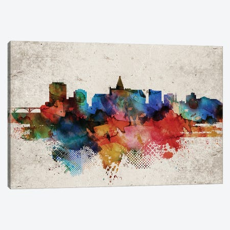 Saskatoon Abstract Skyline Canvas Print #WDA615} by WallDecorAddict Canvas Print
