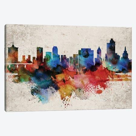 Tulsa Abstract Skyline Canvas Print #WDA623} by WallDecorAddict Canvas Art Print