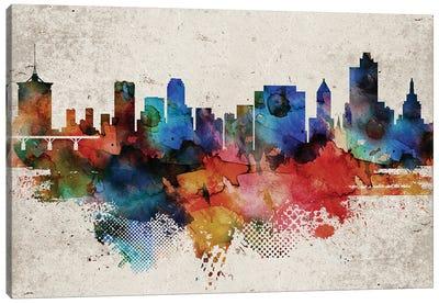 Tulsa Abstract Skyline Canvas Art Print