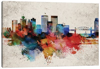 Vancouver Abstract Skyline Canvas Art Print