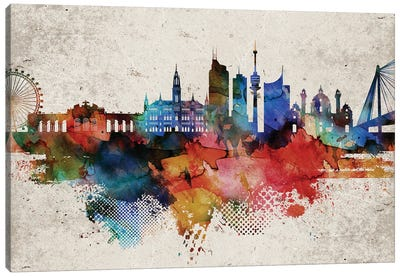 Vienna Abstract Skyline Canvas Art Print