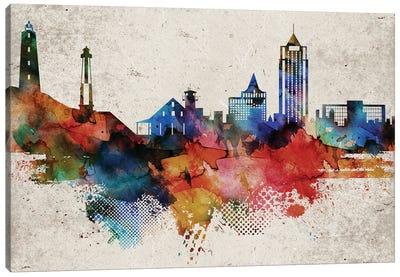 Virginia Beach Abstract Skyline Canvas Art Print
