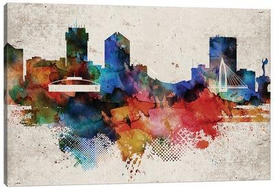 Wichita Abstract Skyline Canvas Art Print