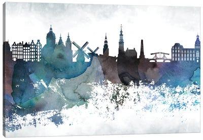 Amsterdam Bluish Skylines Canvas Art Print