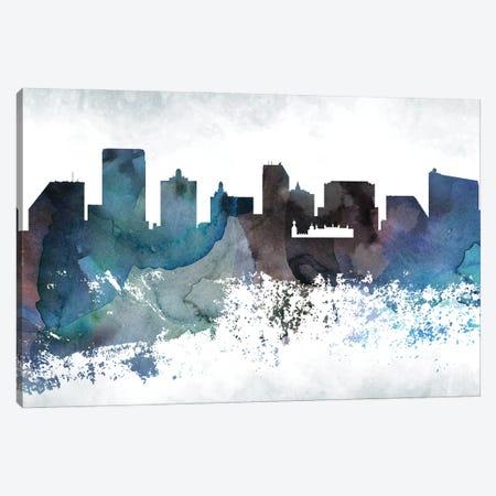 Atlantic City Bluish Skylines Canvas Print #WDA636} by WallDecorAddict Canvas Art Print
