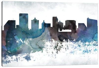 Atlantic City Bluish Skylines Canvas Art Print