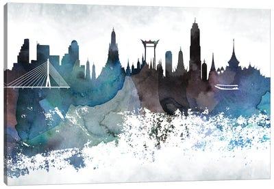 Bangkok Bluish Skyline Canvas Art Print