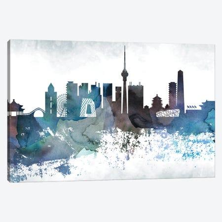 Beijing Bluish Skyline Canvas Print #WDA640} by WallDecorAddict Art Print