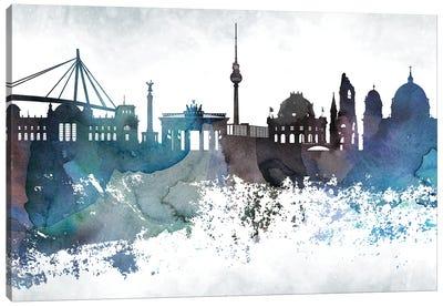 Berlin Bluish Skyline Canvas Art Print