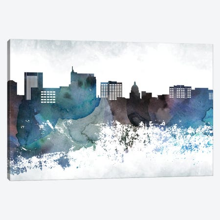 Boise Bluish Skyline Canvas Print #WDA643} by WallDecorAddict Canvas Print