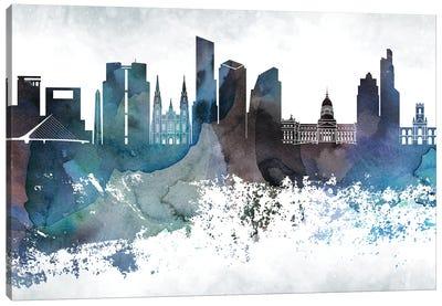 Buenos Aires Bluish Skyline Canvas Art Print