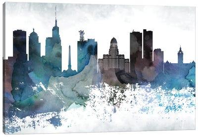Buffalo Bluish Skyline Canvas Art Print