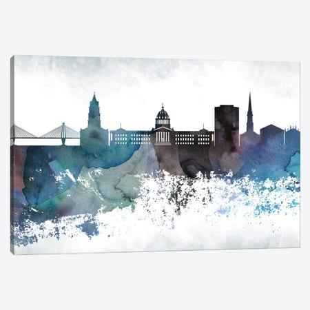 Charleston Bluish Skyline Canvas Print #WDA651} by WallDecorAddict Canvas Wall Art