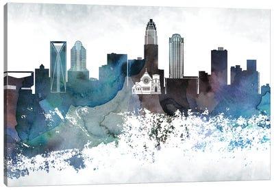 Charlotte Bluish Skyline Canvas Art Print