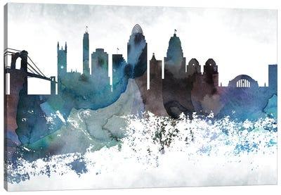 Cincinnati Bluish Skyline Canvas Art Print