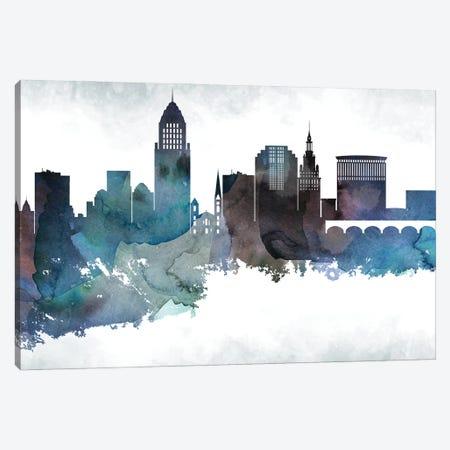 Cleveland Skyline Canvas Print #WDA654} by WallDecorAddict Canvas Print