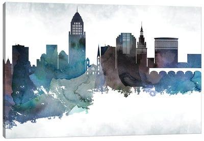 Cleveland Skyline Canvas Art Print