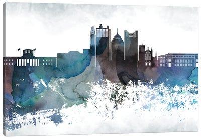 Columbus Bluish Skyline Canvas Art Print
