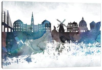 Copenhagen Bluish Skyline Canvas Art Print