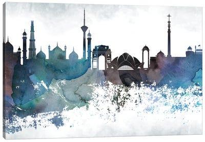 Delhi Bluish Skyline Canvas Art Print