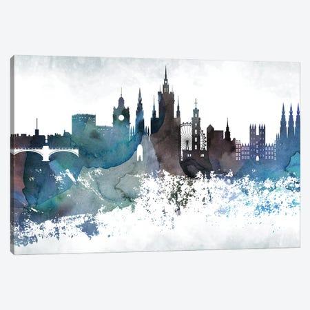 Edinburgh Bluish Skyline Canvas Print #WDA663} by WallDecorAddict Canvas Art Print