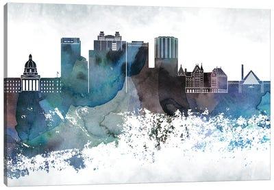Edmonton Bluish Skyline Canvas Art Print