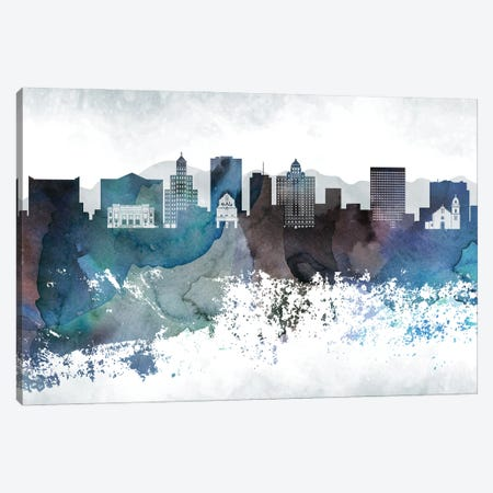 El PasoBluish Skyline Canvas Print #WDA665} by WallDecorAddict Canvas Artwork
