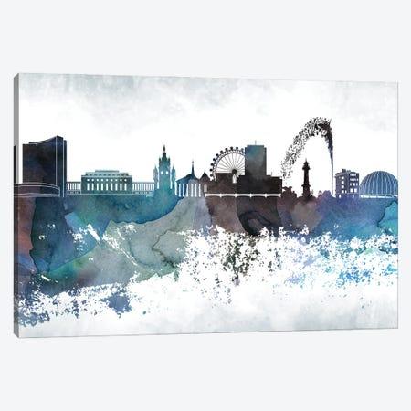 Geneva Bluish Skyline Canvas Print #WDA667} by WallDecorAddict Canvas Artwork