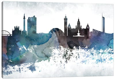 Glasgow Bluish Skyline Canvas Art Print