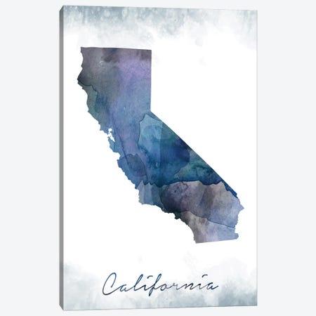 California State Bluish Canvas Print #WDA66} by WallDecorAddict Canvas Art