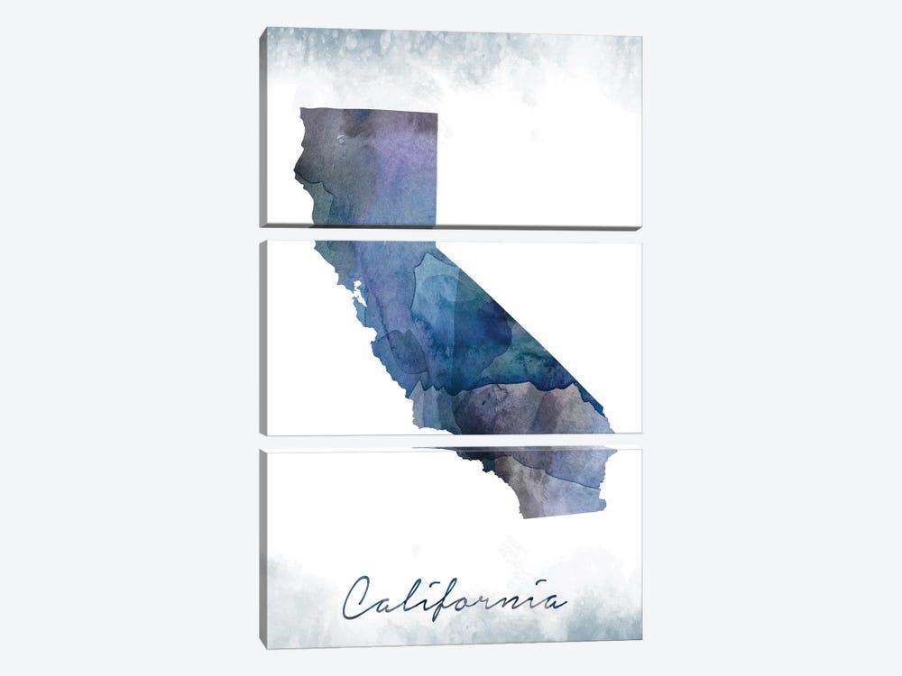 California State Bluish by WallDecorAddict 3-piece Canvas Art Print