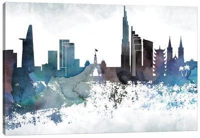 Ho Chi Minh Bluish Skyline Canvas Art Print