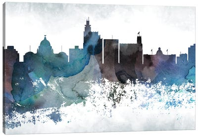 Jackson Mi Skyline Canvas Art Print
