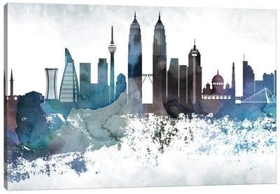 Kuala Lumpur Bluish Skyline Canvas Art Print