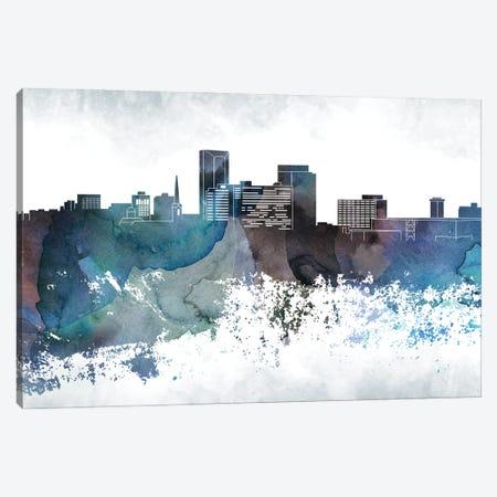 Lexington Bluish Skyline Canvas Print #WDA679} by WallDecorAddict Canvas Wall Art
