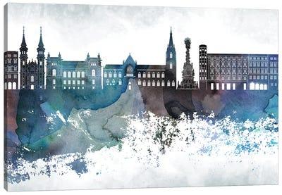 Linz Bluish Skyline Canvas Art Print