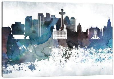 Liverpool Bluish Skyline Canvas Art Print