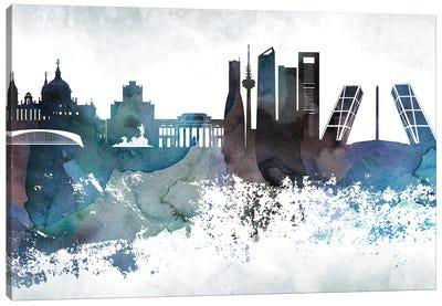 Madrid Bluish Skylines Canvas Art Print