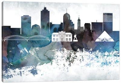 Memphis Bluish Skyline Canvas Art Print