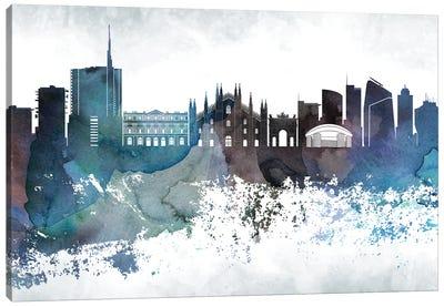 Milan Bluish Skyline Canvas Art Print
